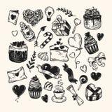 De dag van de valentijnskaart `s reeks Stock Afbeelding