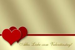 De Dag van de Valentijnskaart van de Kaart van de groet Stock Foto