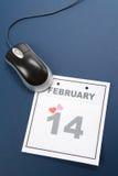 De Dag van de Valentijnskaart van de kalender Stock Foto's