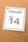De Dag van de Valentijnskaart van de kalender Stock Afbeelding