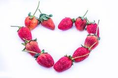 De Dag van de valentijnskaart van de Stawberryliefde Royalty-vrije Stock Fotografie