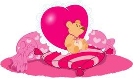 De dag van de Valentijnskaart van de teddybeer Stock Foto's
