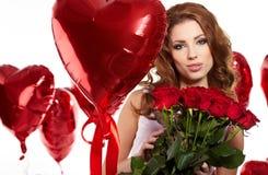 De dag van de Valentijnskaart van heilige Stock Afbeeldingen