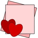 De Dag van de Valentijnskaart van het kaartje Royalty-vrije Stock Afbeeldingen