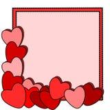 De Dag van de Valentijnskaart van het kaartje Stock Foto