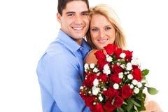 De dag van de valentijnskaart van het paar Stock Foto's