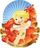 De Dag van de Valentijnskaarten van de Cupido Stock Foto