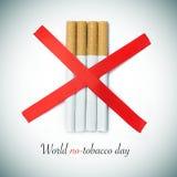 De dag van de wereld geen-tabak Stock Afbeeldingen