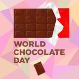 De Dag van de wereldchocolade Stock Afbeeldingen