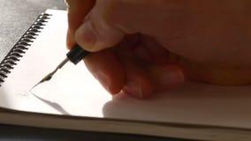 De dag van de wereldgezondheid kalligrafie en het lattering Eerste lijn stock footage