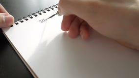 De dag van de wereldgezondheid kalligrafie en het lattering Eerste lijn stock video