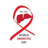 De Dag van de wereldhepatitis Stock Fotografie