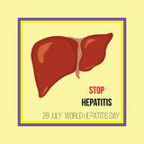 De Dag van de wereldhepatitis Vector illustratie Stock Foto