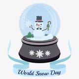 De dag van de wereldsneeuw stock illustratie