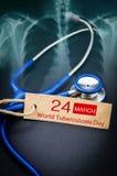 De Dag van de wereldtuberculose Stock Fotografie