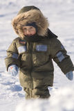De dag van de winter bij het bevroren meer (09) Stock Afbeeldingen