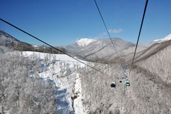 De dag van de winter in mountines van Sotchi Royalty-vrije Stock Foto's