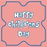 De dag van gelukkige kinderen Stock Afbeeldingen