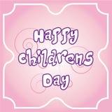De dag van gelukkige kinderen Stock Foto