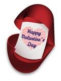 De Dag van gelukkige Valentine- groetkaart Stock Afbeeldingen