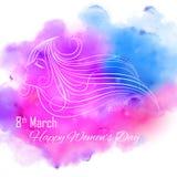 De Dag van gelukkige Vrouwen Royalty-vrije Stock Afbeeldingen