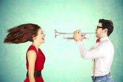 De Dag van grappig Valentine. stock fotografie