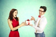 De Dag van grappig Valentine. stock afbeelding