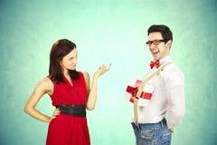 De Dag van grappig Valentine, reeks verschillende naderbij komende handelingen stock foto's