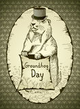 De Dag van Groundhog Stock Illustratie
