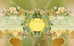 De Dag van heilige Patrick - Gouden Pot Royalty-vrije Stock Fotografie