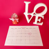 De dag van heilige Valentine - 14 van februari Stock Foto