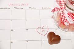 De dag van heilige Valentine - 14 van februari Stock Fotografie
