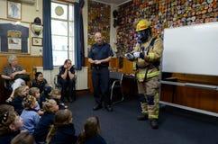 De dag van het Brandveiligheidsonderwijs Stock Foto