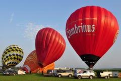 De dag van het Festival van de ballon, Kunovice, Tsjechische republiek Stock Afbeelding