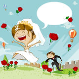 De Dag van het huwelijk vector illustratie