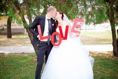 De dag van het huwelijk Stock Fotografie