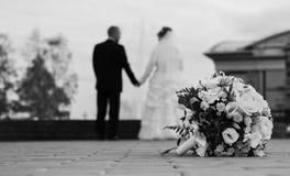 De dag van het huwelijk Stock Foto's