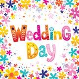 De dag van het huwelijk Royalty-vrije Stock Fotografie