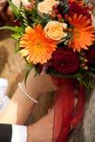 De dag van het huwelijk, boeket van bloem Stock Foto's