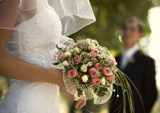 De dag van het huwelijk (speciale foto f/x) Stock Afbeeldingen