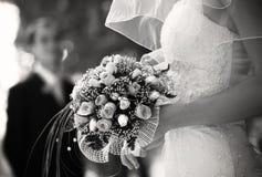 De dag van het huwelijk (speciale foto f/x) Stock Foto