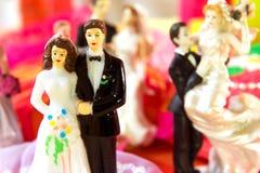 De dag van het huwelijk voor paar Stock Foto