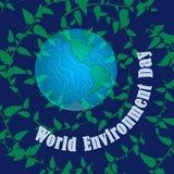 De Dag van het Milieu van de wereld Onze huisaarde Gunstig milieu, bescherming van aard stock illustratie