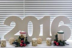 de dag van het nieuwe jaar van 2016 Stock Foto