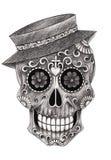 De dag van het smileygezicht van de schedelkunst van de doden Royalty-vrije Stock Afbeeldingen