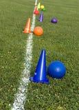 De dag van het voetbal op school Royalty-vrije Stock Foto's