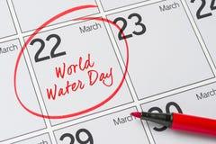 De Dag van het wereldwater Royalty-vrije Stock Afbeeldingen