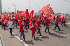 De Dag van internationale Arbeiders in Vladivostok Royalty-vrije Stock Foto's