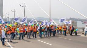 De Dag van internationale Arbeiders in Vladivostok Royalty-vrije Stock Afbeeldingen