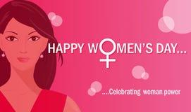 De dag van internationale Vrouwen   Stock Afbeeldingen